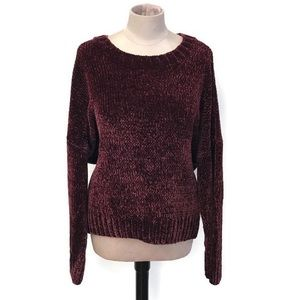 Sanctuary Burgundy Chenille Sweater || NWT